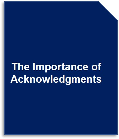 The Importance of Acknowledgments